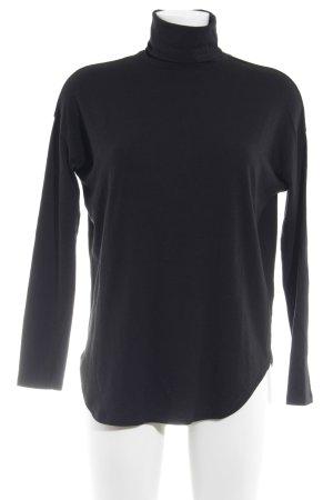 Blaumax Rollkragenpullover schwarz schlichter Stil