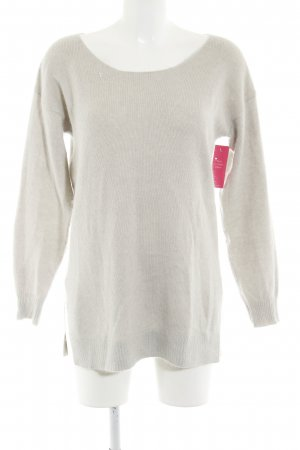 Blaumax Kraagloze sweater lichtgrijs casual uitstraling