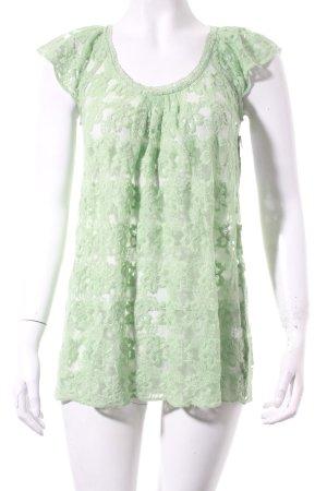 Blaumax Spitzenbluse hellgrün Romantik-Look