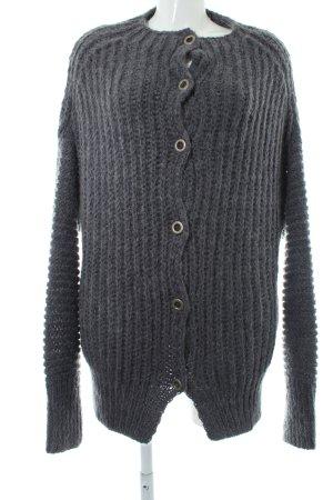 Blaumax Giacca in maglia grigio ardesia punto treccia stile casual