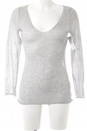Blaumax Knitted Sweater light grey-silver-colored flecked simple style
