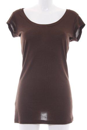 Blaumax T-shirt donkerbruin casual uitstraling