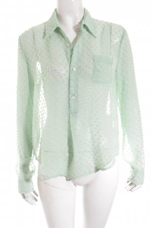 Blaumax Transparent Blouse lime-green elegant