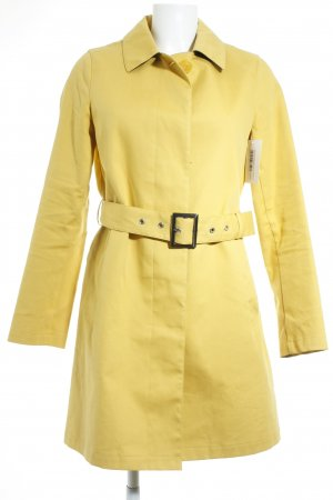 Blaumax Between-Seasons-Coat dark yellow minimalist style