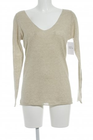 Blaumax V-Neck Sweater oatmeal casual look