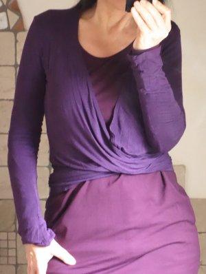 Blaumax Gebreide wikkeljas donkerpaars-violet Viscose