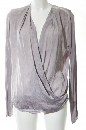 Blaumax Wraparound Blouse light grey elegant