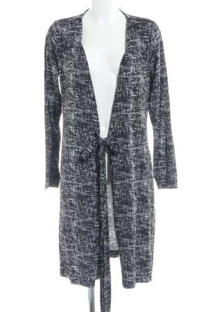 Blaumax Wickelkleid schwarz-weiß abstraktes Muster Casual-Look