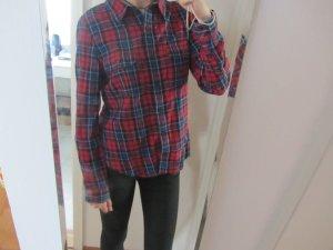 Forever 21 Camisa de leñador azul-rojo oscuro