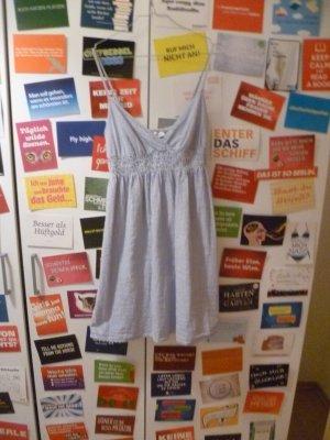 Blauweiß-gestreiftes Kleid von Pimkie, Babydoll, Sommer, Strand, Marine, Boho, Blogger