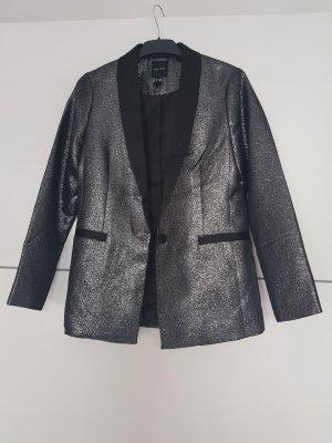 New Look Blazer de esmoquin color plata