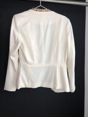 H&M Blazer corto blanco-marrón arena