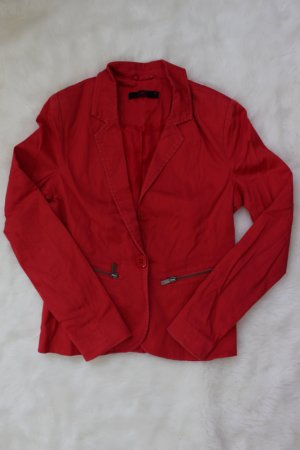 Ann Christine Jersey Blazer bright red polyester