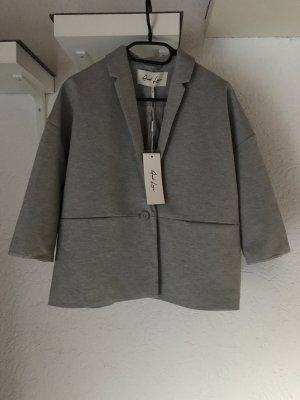 Blazer sweat gris clair