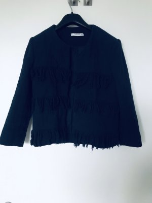 Mango Knitted Blazer dark blue