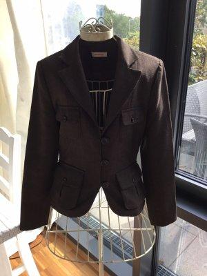 Orsay Tweed Blazer dark brown