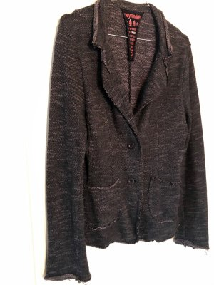 gwynedds Jersey Blazer brown violet cotton
