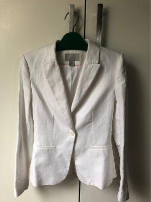 H&M Knitted Blazer white