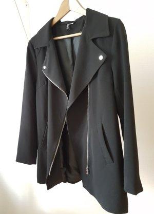 H&M Divided Blazer zwart-zilver Polyester