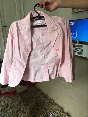 Denim Blazer pink
