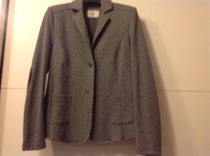 Jersey blazer grijs Gemengd weefsel
