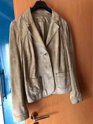 Betty Barclay Leather Blazer sage green