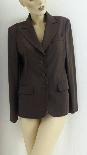 Madeleine Wool Blazer dark brown-brown mixture fibre