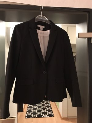 H&M Veste de smoking noir-blanc