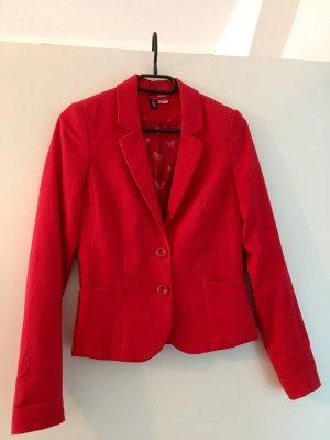 H&M Long Blazer brick red