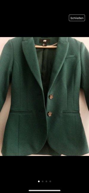 H&M Blazer de esmoquin verde