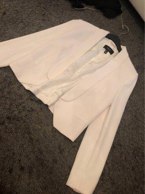 Mango Jersey Blazer blanco