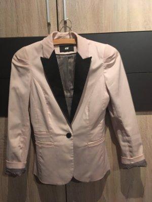 H&M Blazer boyfriend noir-rose