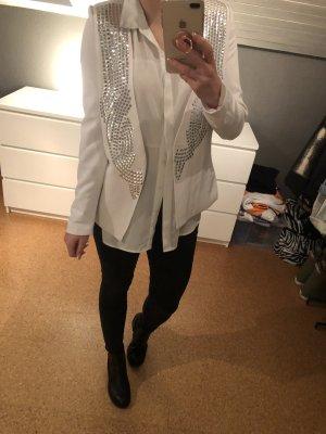 NLY Trend Blazer largo blanco-color plata