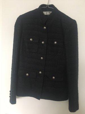 Tahari Knitted Blazer dark blue