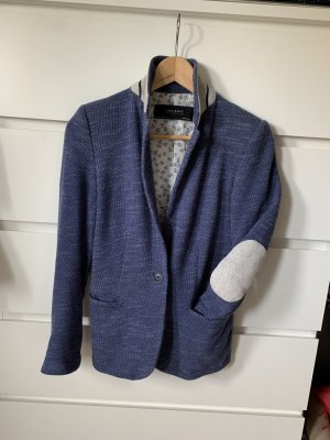 Zara Knitted Blazer steel blue-cornflower blue