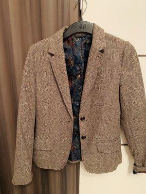H&M Blazer in lana marrone chiaro-marrone