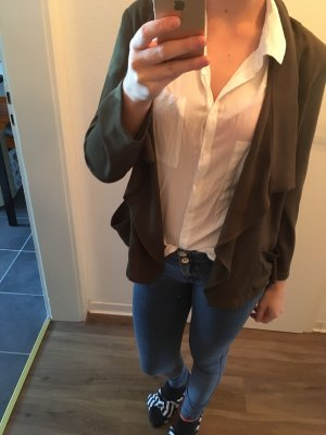 Zara Sweat Blazer khaki-white