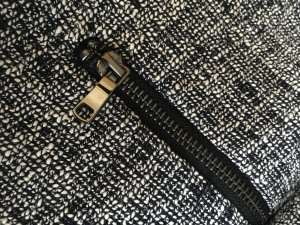 H&M Blazer corto azul oscuro-color plata tejido mezclado