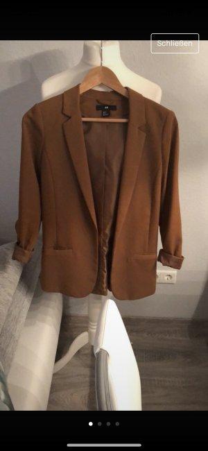 H&M Blazer long rouille-brun