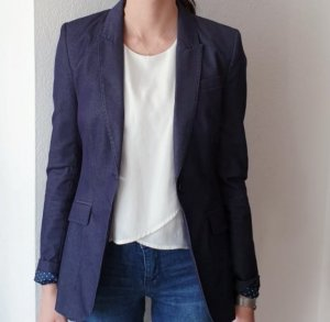 H&M Denim Blazer steel blue