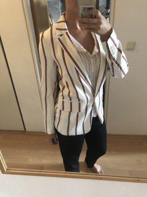 H&M Blazer boyfriend blanc-rouge