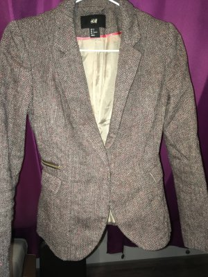 H&M Wool Blazer grey brown