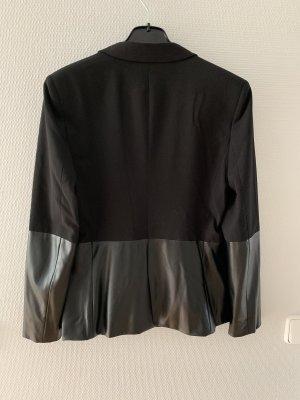 Armani Exchange Blazer court noir tissu mixte