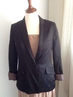 H&M Blazer stile Boyfriend nero-color oro rosa