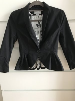 H&M Denim Blazer black-white