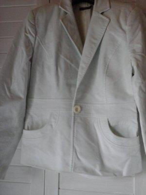 Blazer aus Cord in Wollweiss