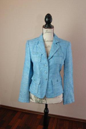 Blazer aus hellblauem Tweed (100% Seide) von Marc Aurel