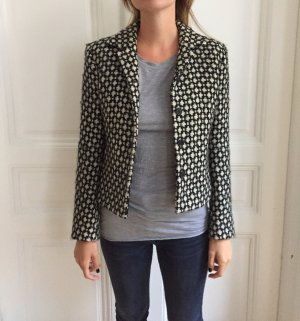 St. emile Wool Blazer black-white wool