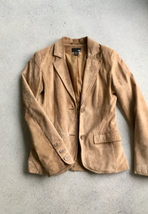 H&M Leather Blazer cognac-coloured