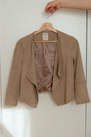 Bershka Leather Blazer beige